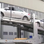 Articulated car transport trailer compliant with Russian regulations for 8 cars, for Russia