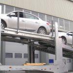 Autotransportsattelanhänger nach russischen Vorschriften für 8 PKW für Russland